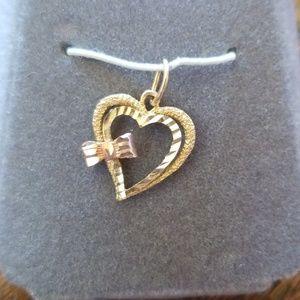 14 kt gold pendant heart